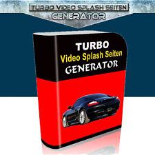 Turbo video Splash generatore pagine-PLR-licenza