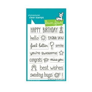 Sentiments Cling Stamp So Much To Say Hi,congrats,smile Lawn Fawn Clear Stamps