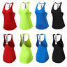 Women's Yoga Running Gym Vests T-back Sleeveless Workout Tank Tops Spandex Sexy