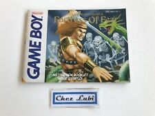 Notice - Fortress Of Fear - Nintendo Game Boy - PAL FAH 1