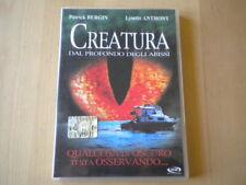 Creatura dal profondo degli abissi Bergin DVD horror lingua italiano inglese
