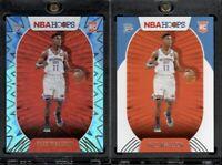 2021 NBA Hoops Theo Maledon RC Teal Explosion Holo & Base Rookie Card Thunder