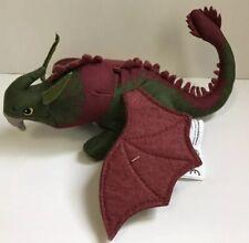 "Spin Master SKULLCRUSHER How Train Dragon 2 felt wing 9.5"" green maroon plush"