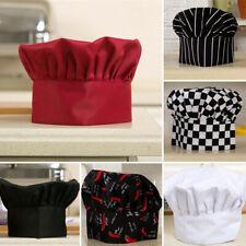 Unisex~Kitchen Chef Hat Adjustable Elastic Baker Cap Cook Catering Restaurant Au