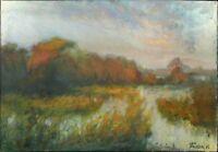 """Russischer Realist Expressionist Öl Leinwand """"Wind"""" 79 x 55 cm"""