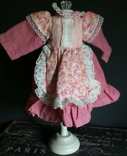Vintage Reproduction Style Pink & Lace Trimmed Dress for China Head Artist Dolls