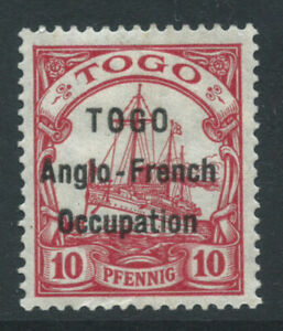 TOGO 1914 SH3 10pf opt Togo Anglo-french Occ m/m wmk Lozenges m/m. Cat £130
