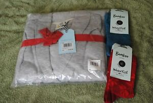 Ladies weird fish dressing gown and socks size 16