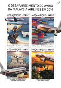 MALAYSIA AIRLINES Missing Flight MH370 Boeing 777-200ER Aircraft Stamp Sheet