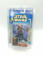 STAR WARS ATTACK OF THE CLONES CARDED PLO KOON ARENA BATTLE w CASE