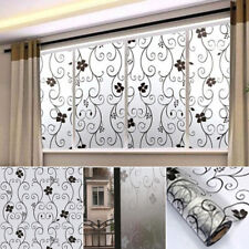 Frosted Floral Home Bedroom Bathroom Door Window Glass Cover Sticker Film Decor