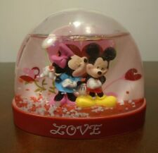 Disney Mickey & Minnie Mouse LOVE Snow Dome Water Globe Valentine Free Shipping