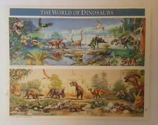 World of Dinosaur Scene Page of Stamps (15 stamps) Collectors Usa 1996