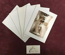"""5 x Professional Picture Framing 4""""x6"""" Photo Mat Board Backing for 6""""x 8"""" Frame"""