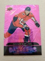 Connor McMichael 2020-21 Upper Deck Series 2 PINK DAZZLERS Rookie DZ-99 Capitals