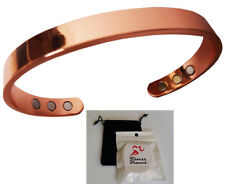 Pure Copper Magnetic Bracelet Arthritis Therapy Energy MEN WOMEN w/ BONUS Pouch