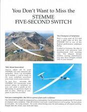 Aircraft Brochure - Stemme - S10-VT - Sailplane - Retractable Propeller (B549)