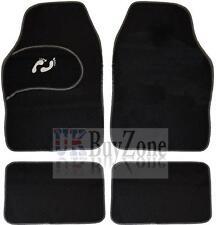 4 Piece Front Rear Black Car Mat Carpet Set Non-Slip Grip Universal Floor Mats
