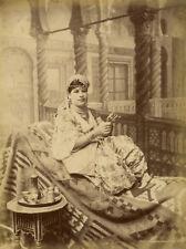 Photo Albuminé Femme Mauresque Chez Elle Vers 1880