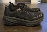 Hoka One One M Bondi 6 Size 8.5 1019271 BBLC Black Running Shoes Womens