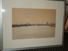 "Corpus Christi, 1937, Artwork, Original, 14"" x 20"""