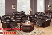 Motion Sofa Set Sofa & Loveseat Bonded Leather Espresso Living Room Furniture