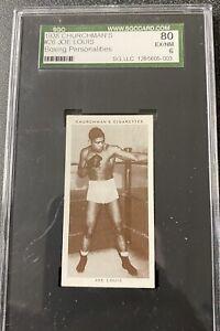 """1938 WA & AC Churchman Boxing Joe Louis #26 Personalities SGC 6 """"EX-NM"""" CENTERED"""
