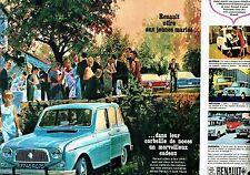 PUBLICITE ADVERTISING 037  1964   Renault 4  4L R4  ( 2 pages)