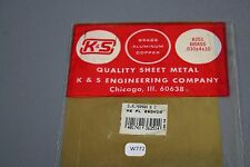 K&S Maquette 251 brass Plaque metal doré 25*10cm .010 x4x10 aluminium copper