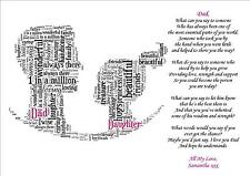 Personalised Daughter Son Mum Poem Mothers Day Birthday Christmas Gift Word Art