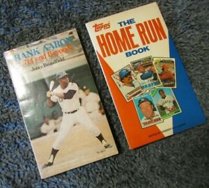 Hank Aaron Home Run Book 714 and Beyond & Book Willie Mays Mickey Mantle Yankees