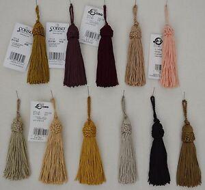 "Tassel - Set of 2 - Chainnette - 4"" w/ 1"" loop - 16 colors to choose from!"
