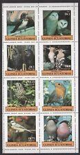 EQUATORIAL GUINEA 1993 BIRDS SHEETLET OF 8 NEVER HINGED MINT