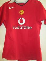 Manchester United 2004-2005 Home Football Shirt Medium Boys /35026