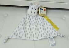 mothercare White Grey Giraffe Comforter Blankie Spotty Blanket Dou Snuggle Plush
