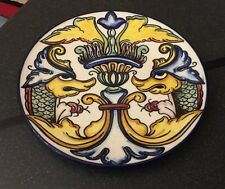 Spanish Pintado a Mano Espana Hand Painted Plate Made in Spain Mythical Creature