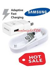OEM Samsung Galaxy S6 S7 Note 4 5 Fast Charging USB Wall Charger+Cable