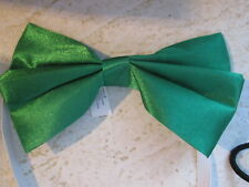 Pet Costume Dog Show Day Bow Tie Elastic Green Spring Satin Costume Neck Wear