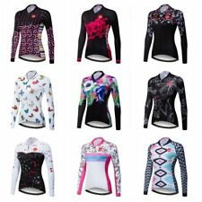 Women Cycling Jersey Bicycle Racing Team Long Sleeve Clothing Sports Wear Tops