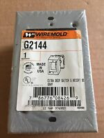 WIREMOLD G-2144 GRAY EXTRA DEEP SWITCH RECEPTACLE BOX