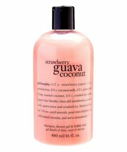 Philosophy Strawberry Guava Coconut 3 in 1 Shower Gel Body Wash 16 oz