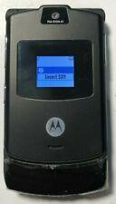 READ FIRST Motorola RAZR V3 Black (UNLOCKED) T-Mobile Cell Phone MINT Used