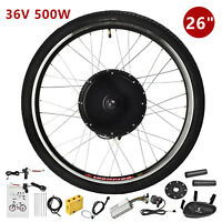 "36V 500W 26"" Rear Wheel Electric Bicycle E-bike Kit Conversion Cycling Motor"
