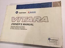 SUZUKI VITARA OWNERS USERS INSTRUCTION BOOK HANDBOOK MANUAL PETROL DIESEL 1999>