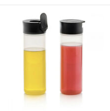 Tupperware Squeeze-It Set of 2 Condiment Bottles 360 ml / 12 oz. Black