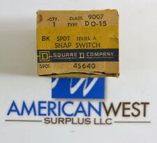 Square D 9007DO15  9007 DO-15 SPDT Snap Switch ser A NEW in box