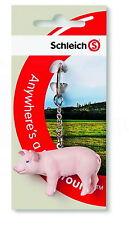 ANIMALS SCHLEICH FIGURINE 82884 KEY RING PIG NEW