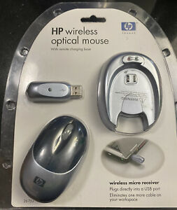 HP wireless optical mouse with remote charging base