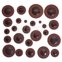 28pcs Dark Brown Soprano Saxophone Woodwind Leather Pad for Yamaha Size Parts