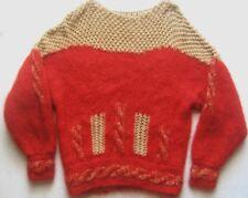 Damenpullover Gr. 42 Rot-Hellbraun